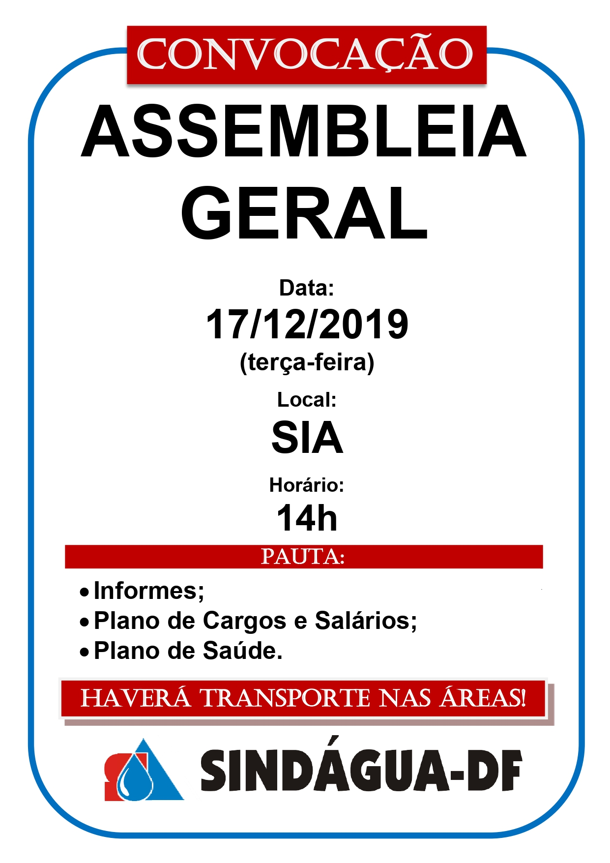 ASSEMBLEIA GERAL 17/12/2019