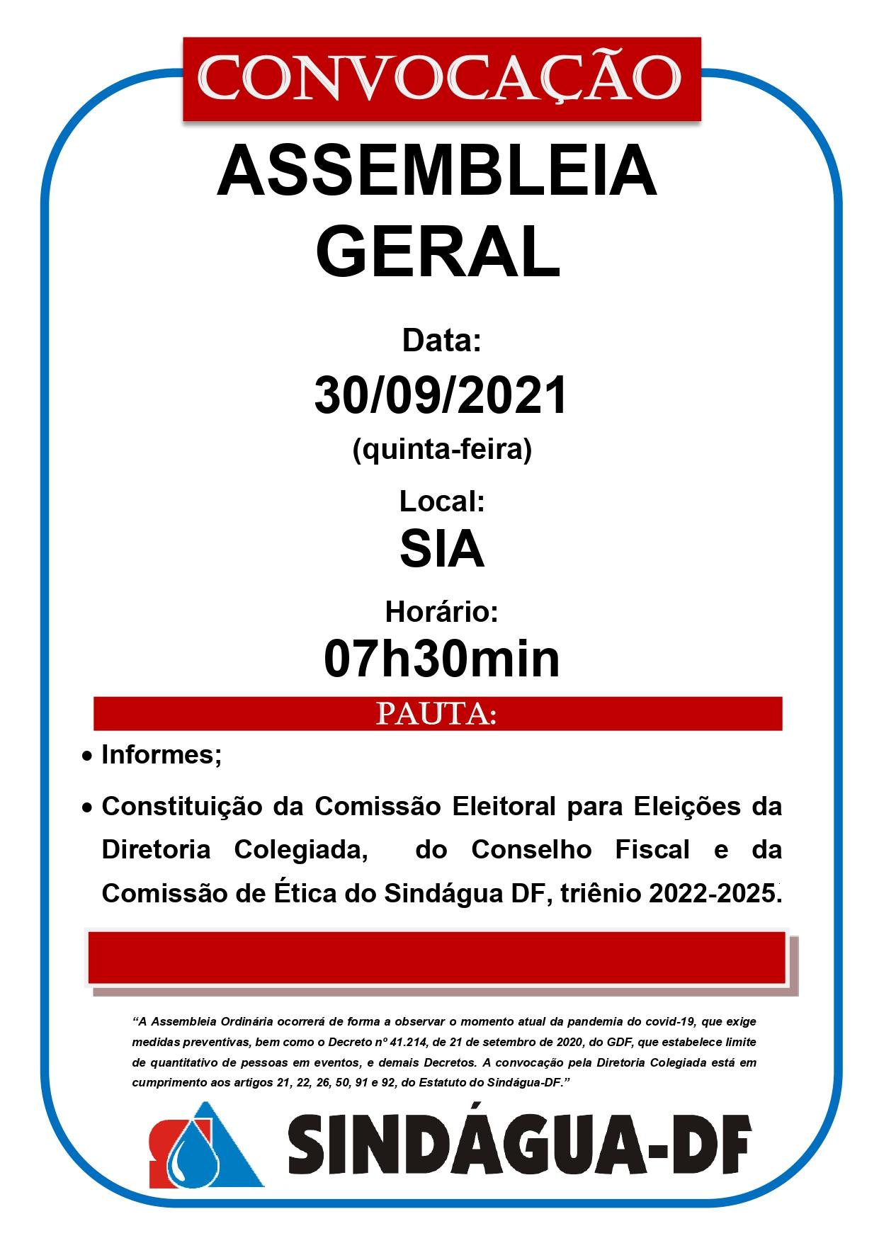 ASSEMBLEIA GERAL 30/09