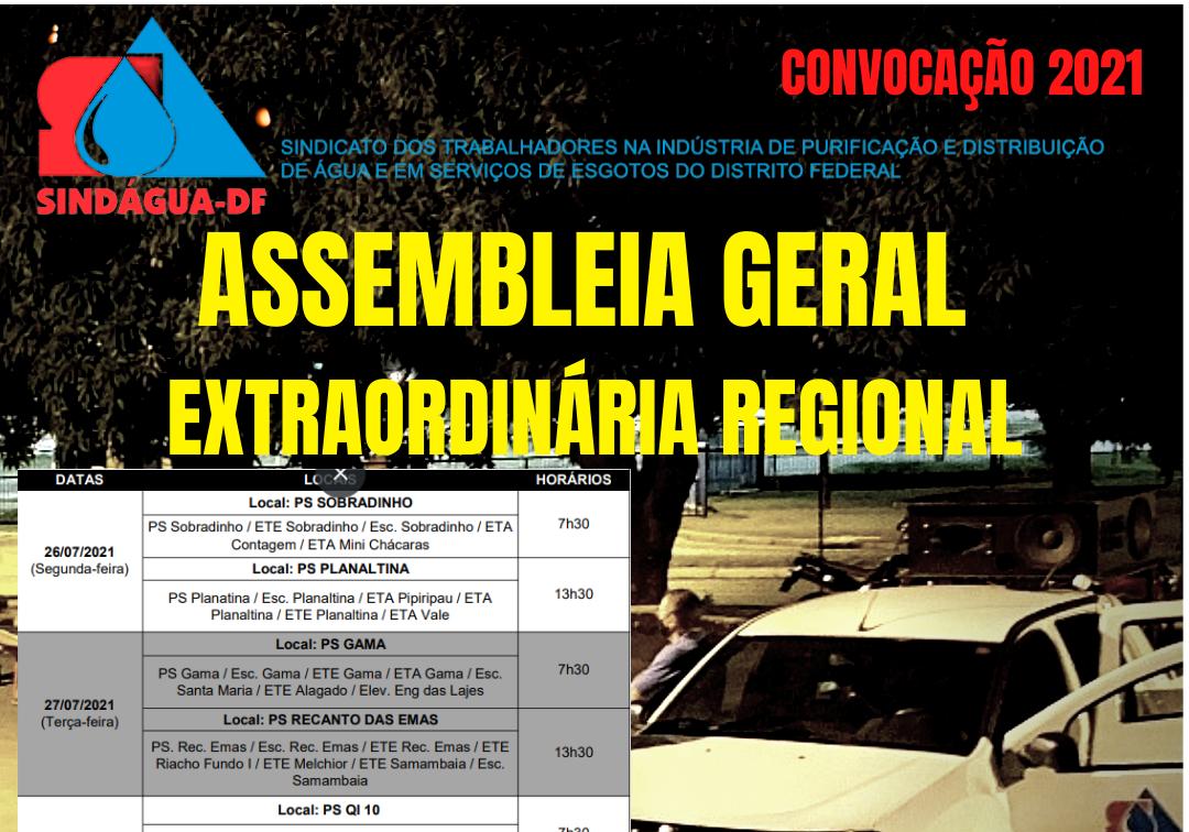 ASSEMBLEIA GERAL EXTRAORDINÁRIA REGIONAL
