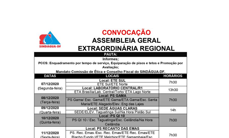 SINDÁGUA-DF INFORMA 04/12: ASSEMBLEIAS REGIONAIS