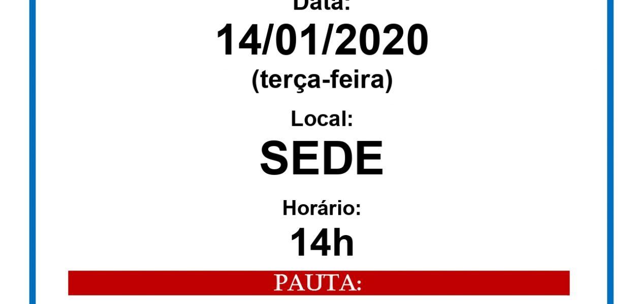 ASSEMBLEIA GERAL 14/01/2020
