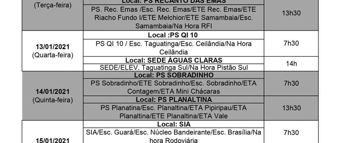 DATA-BASE 2021: CALENDÁRIO DE ASSEMBLEIAS REGIONAIS