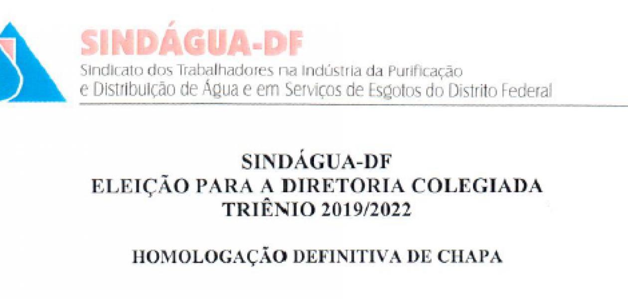 HOMOLOGAÇÃO DE CHAPA