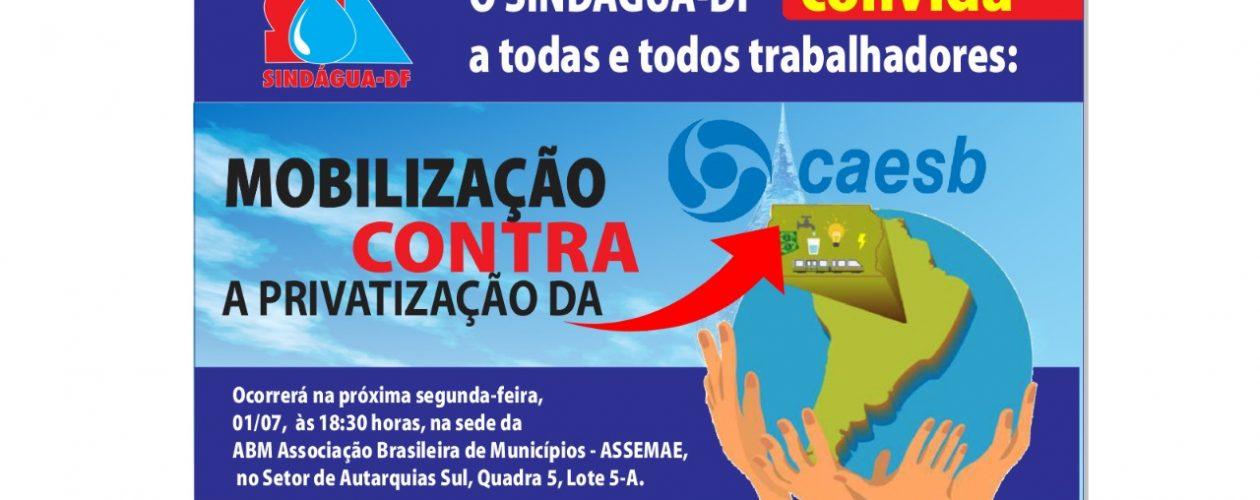 Mobilização contra a privatização da CAESB