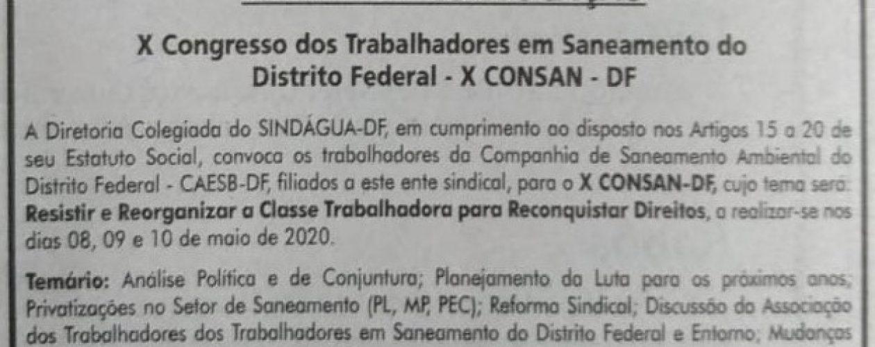 X CONSAN – EDITAL DE CONVOCAÇÃO