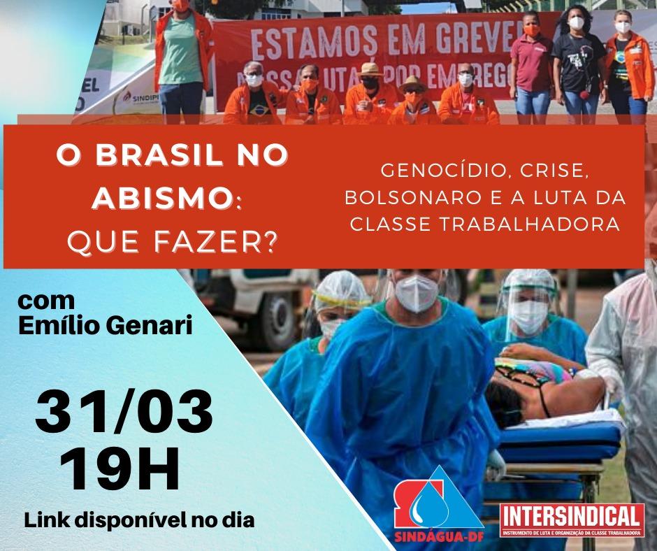 Sindágua-DF e Intersindical realizam LIVE de conjuntura.